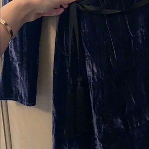 vicolo Dresses - Midnight velvet wrap dress